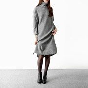 turtle neck long onepiece
