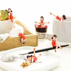컵 위의 후치코 RED 4 (랜덤)
