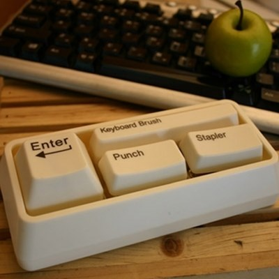 책상위에 작은센스! 키보드모양 문구세트