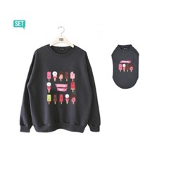 wwg sweatshirt set : something sweet / charcoal