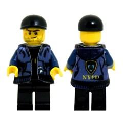 레고피규어의상 Leese Miniclothes M19 농구후드(NYPD)