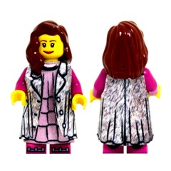 레고피규어의상 Leese Miniclothes S1 모피코트/드레스