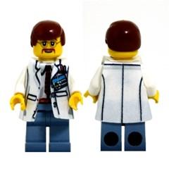 레고피규어의상 Leese Miniclothes M16 과학자가운