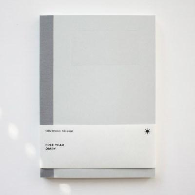 (만년형) 백상점 FREE YEAR DIARY_light gray