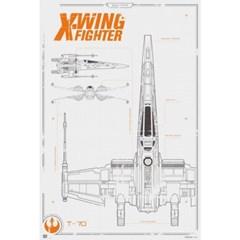 160378 스타워즈 깨어난포스 X-Wing Fighter Blueprint