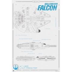 160379 스타워즈 깨어난포스 Millennium Falcon Blueprint