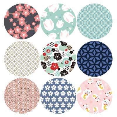 아홉개의 패턴 스티커