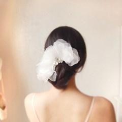 [하우즈쉬나우] 엘리엇의 아침 수국, 실크오간자 hair pin
