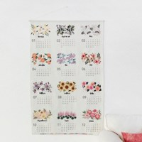 [Multi Fabric]2016 flower bouquet Fabric calendar