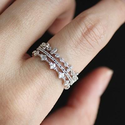 화이트 피에로 3타입 반지(3types)white pierrot 3type ring