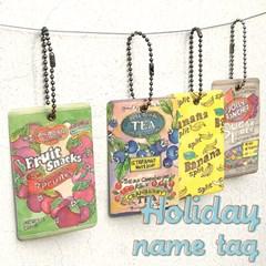 holiday name tag