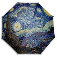 [ART]Hello RainCats 고흐-별이 빛나는 밤 5단 미니 우산