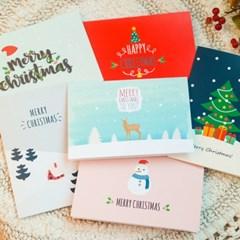크리스마스 카드 6종 세트