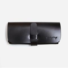 Belted Leather Case - BLACK