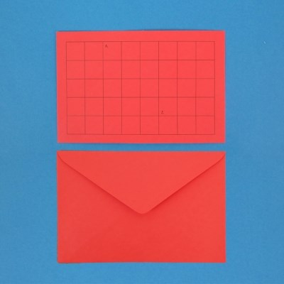 A. to Z. ENVELOPE RED / 2ea