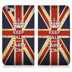 [다이어리케이스] Keep Calm and Carry On/영국(For 아이폰/갤럭시)