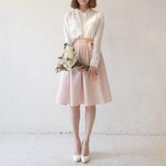 [다함한복] wedding line - 피치 레이스 허리치마