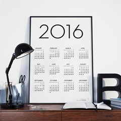 2016 SIMPLE CALENDR POSTER