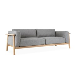PLAIN SOFA 3SEATER GREY