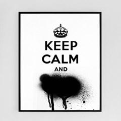 keep calm and/킵 캄 앤[알루미늄 메탈 액자/4컬러]