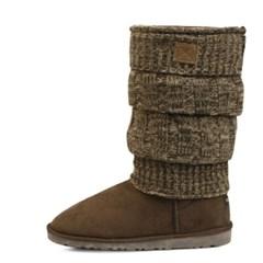 Kint layered suede fur half boots_KM15w317