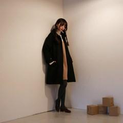 Daily a-line pleats coat