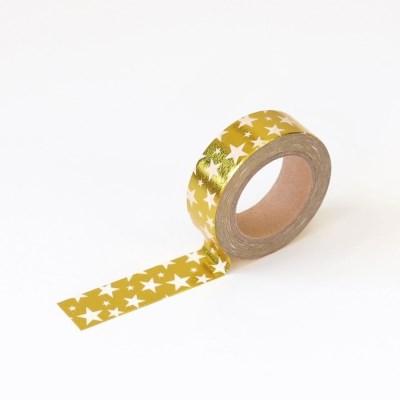 왈가닥스 포일 마스킹테이프 - 55 Gold Star