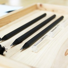 Black나무연필+연필cap세트