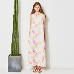 [sweet180]BIG DOTS PRINT LONG DRESS