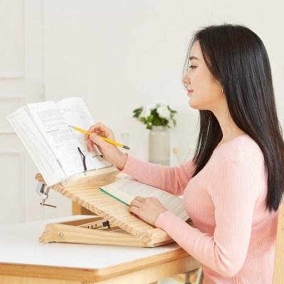 원목 독서대 각도조절 보조책상 600 드래그 세트 필기