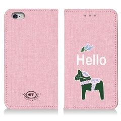 [이니셜/다이어리케이스] 빈티지목마/헬로연핑크 (For 애플/삼성)