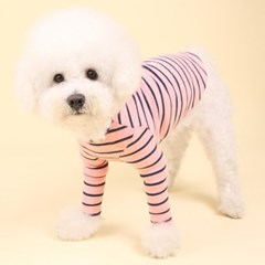 스트라이프티 (bokashi pink) Stripe T