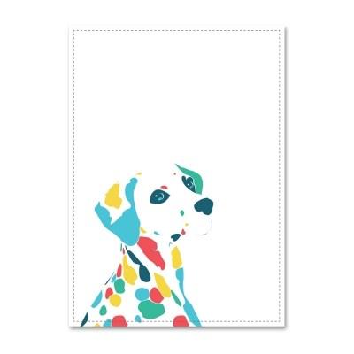 패브릭 포스터_Colorful Dalmatian (026)