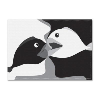 패브릭 포스터_Lovefish[B&W] (040)