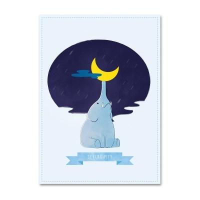 패브릭 포스터_별빛 코끼리 (043)