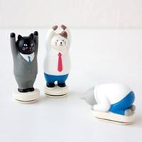 데꼴 일하는 고양이 스탬프 working cats Series