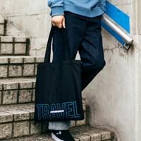 UNISEX Two-Tone Logo Eco Bag aaa018_Black/Blue