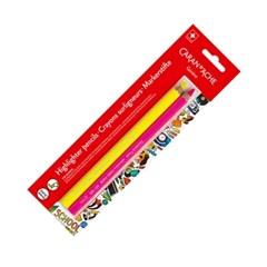 까렌다쉬 스쿨라인 형광 수채색연필 2입(옐로우,핑크)_(451197)