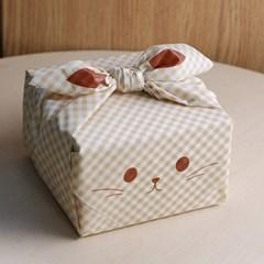 포장상자묶음용 시트보자기-고양이 x 2장