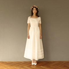 [CLAIR DE LUNE] BLANC DE BLANC DRESS