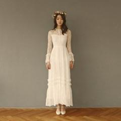 [CLAIR DE LUNE] LISE LACE DRESS WHITE