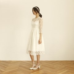 [CLAIR DE LUNE] DOT LACE DRESS