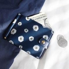 D.LAB Flower pattern moneyclip ver.2 - Navy