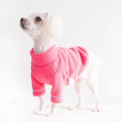 Polo neck Fleece top - Pink