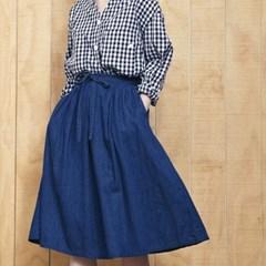 Flare Wrap Skirts- Indigo