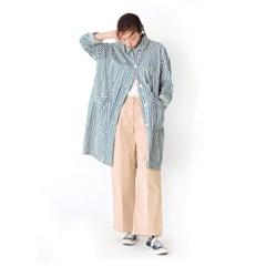 Atelier Coat B-indigo stripe