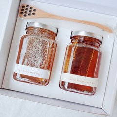 [설선물]당산나무벌꿀 벌집꿀 2종 선물세트