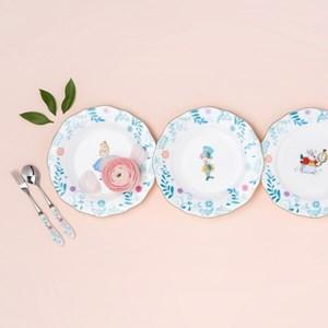 [Disney]Alice_Plate set (4pcs)