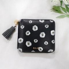 [스트랩 증정] D.LAB Flower zipper wallet - 3color