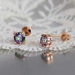 미스틱 토파즈 몽 귀걸이(11월탄생석)mistic topaz mong earring
